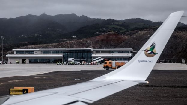 First commercial flight lands on remote St Helena